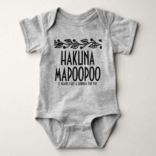 Hakuna Mapoopoo Baby Onsie Baby Bodysuit