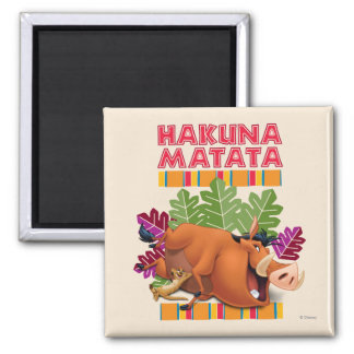 Hakuna Matata 2 Inch Square Magnet