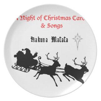 HAKUNA Matata a Night of Christmas Carols & Songs Dinner Plates