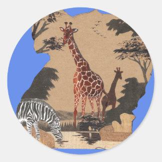 Hakuna Matata African Animals Pride lands.png Classic Round Sticker