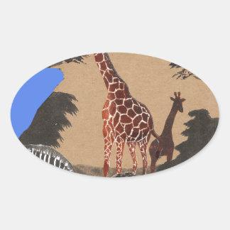 Hakuna Matata African Animals Pride lands.png Oval Sticker