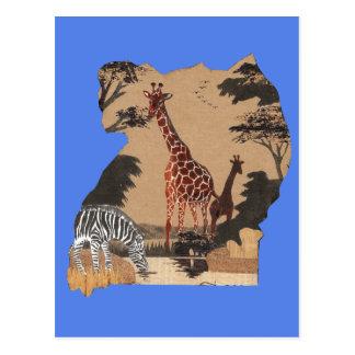 Hakuna Matata African Animals Pride lands.png Postcard