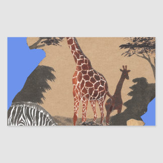 Hakuna Matata African Animals Pride lands.png Rectangular Sticker