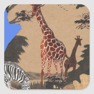 Hakuna Matata African Animals Pride lands.png Square Sticker