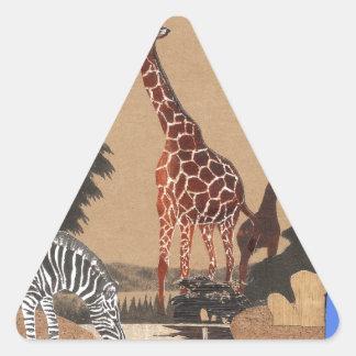 Hakuna Matata African Animals Pride lands.png Triangle Sticker