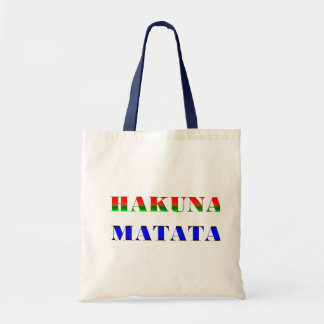 "Hakuna Matata/African Phrase for ""No Worries"" Gift Tote Bags"