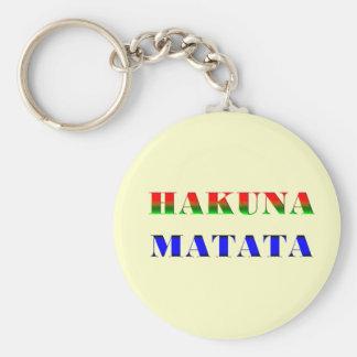 "Hakuna Matata/African Phrase for ""No Worries"" Gift Keychain"