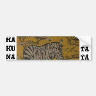 Hakuna Matata African Safari Customize Image Bumper Sticker