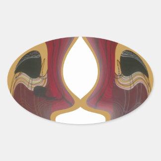 Hakuna Matata African Tratidional Tribe Image.png Oval Sticker