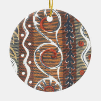 Hakuna Matata African Vintage Traditional Colors Ceramic Ornament
