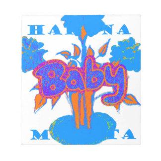 Hakuna Matata Baby Blue Scratch Pads