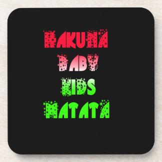 Hakuna Matata Baby Kids Gifts  amazing  color desi Beverage Coaster