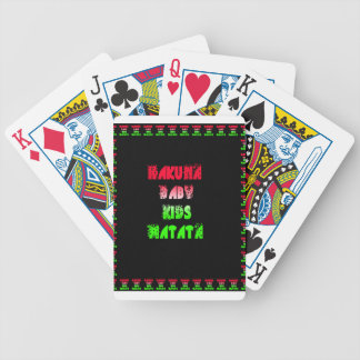 Hakuna Matata Baby Kids Gifts  amazing  color desi Bicycle Playing Cards