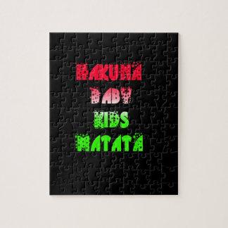 Hakuna Matata Baby Kids Gifts  amazing  color desi Jigsaw Puzzle