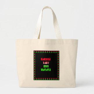 Hakuna Matata Baby Kids Gifts  amazing  color desi Large Tote Bag