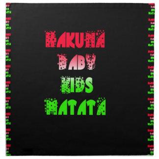 Hakuna Matata Baby Kids Gifts  amazing  color desi Napkin