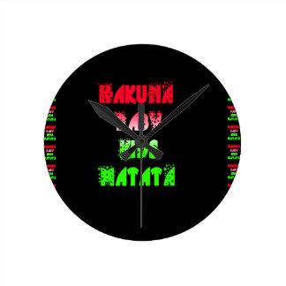 Hakuna Matata Baby Kids Gifts  amazing  color desi Round Clock