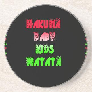 Hakuna Matata Baby Kids Gifts  amazing  color desi Sandstone Coaster