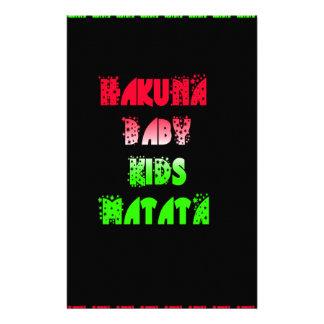 Hakuna Matata Baby Kids Gifts  amazing  color desi Stationery