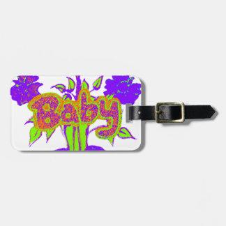 Hakuna Matata Baby kids purple  plant.png Tags For Luggage