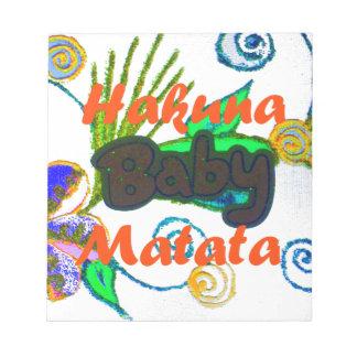Hakuna Matata Baby.png Memo Pads