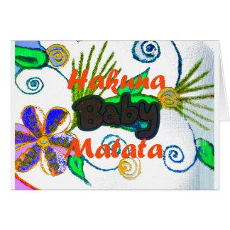 Hakuna Matata Baby.png Tarjeta De Felicitación