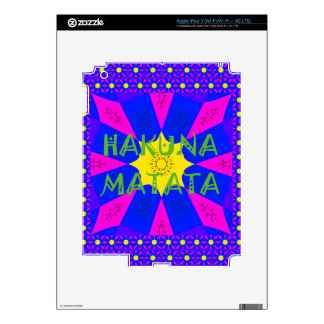 Hakuna Matata Beautiful Amazing Design Colors iPad 3 Decals