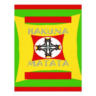 Hakuna Matata Beautiful amazing design Letterhead