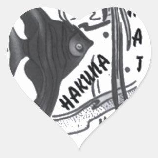 Hakuna Matata Big Little Fish.png Heart Sticker