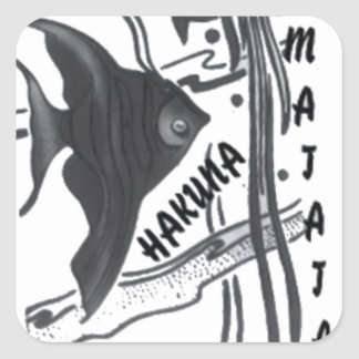 Hakuna Matata Big Little Fish.png Square Sticker