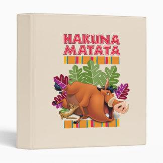 Hakuna Matata Binder