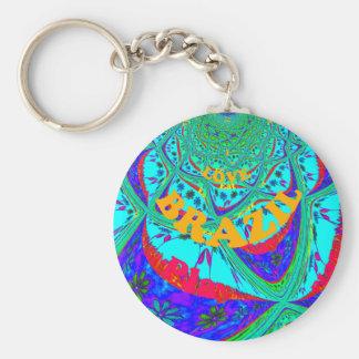 Hakuna Matata Brazil Festival colors.png Basic Round Button Keychain