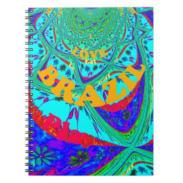 Beach Themed Hakuna Matata Brazil Festival colors.png Spiral Notebook