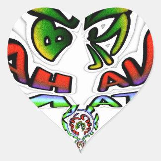 Hakuna Matata Brazil Gift Heart Sticker