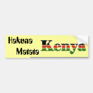 Hakuna        Matata Bumper Stickers
