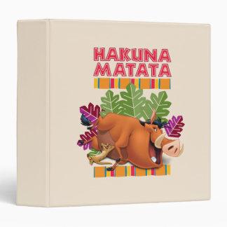 "Hakuna Matata Carpeta 1 1/2"""