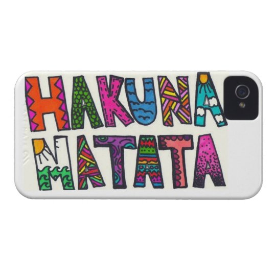 Hakuna Matata Case-Mate iPhone 4 Case