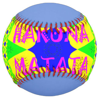 Hakuna Matata colorful stylish design Softball