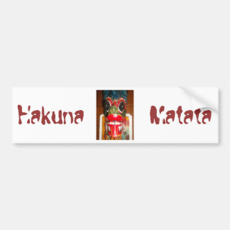 Hakuna Matata Customize Product Bumper Sticker