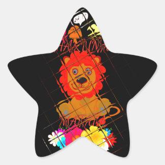Hakuna Matata cute baby lion king design Star Sticker