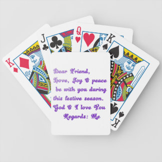 Hakuna Matata Dear Friend Love joy peace be with y Bicycle Playing Cards