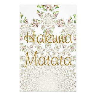 Hakuna Matata Designer Personalized Stationary Customized Stationery