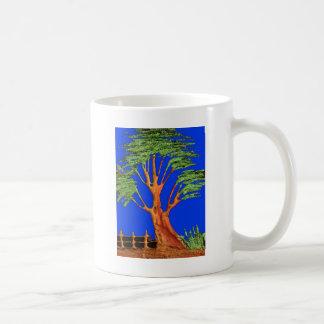 Hakuna Matata Eco Blue Green Acacia Tree. Coffee Mug