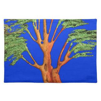 Hakuna Matata Eco Blue Green Acacia Tree. Placemats