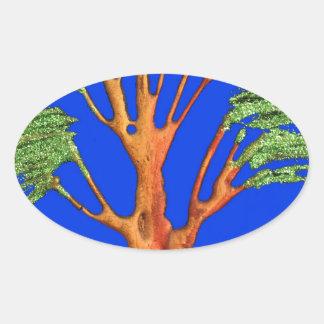 Hakuna Matata Eco Blue Green Acacia Tree. Stickers