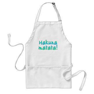 Hakuna Matata en las camisetas, sudaderas con capu Delantal