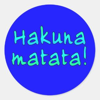 Hakuna Matata en las camisetas, sudaderas con Pegatinas Redondas