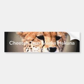 Hakuna Matata Feline Customize gift  Product Car Bumper Sticker