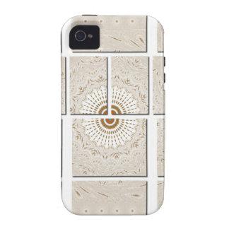 Hakuna Matata Floral Wall canvas tiles Case-Mate iPhone 4 Case