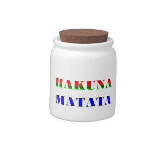 Hakuna Matata frase africana para el regalo de ni Platos Para Caramelos